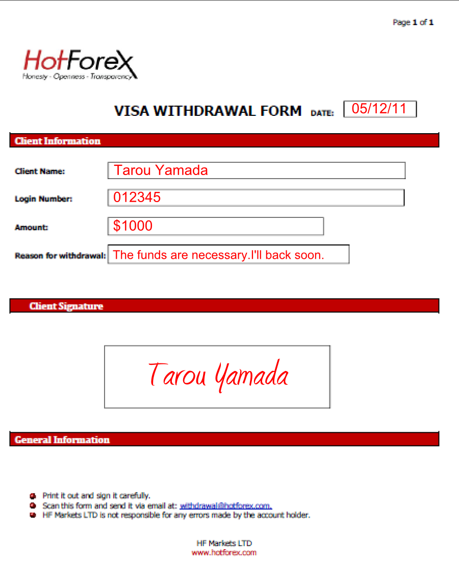 Hotforex withdrawal